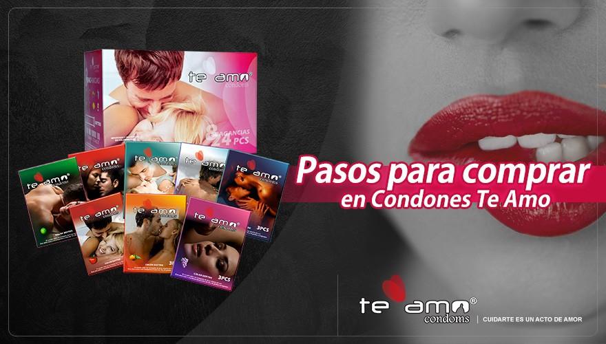Pasos para comprar en condones te amo